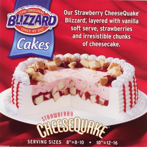Strawberry Cheesequake Blizzard Cake Recipe